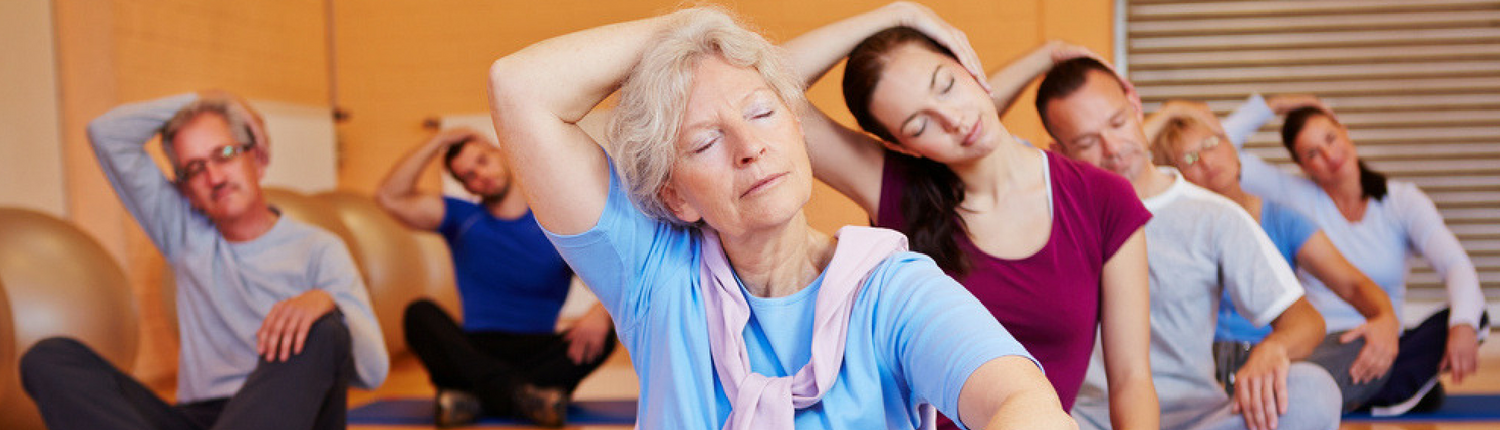 Older adults in a Pilates based exercise class as part of active ageing