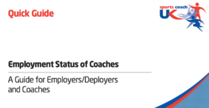 Image showing the front cover of the Employment Status of Coaches