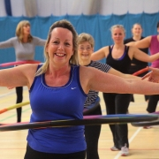Women over 50 enjoying a Powerhoop class