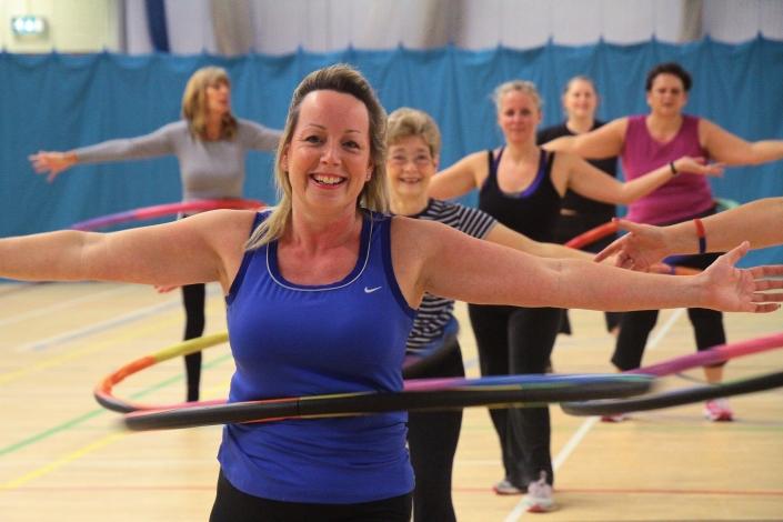 Women over 50 enjoying a Powerhoop class