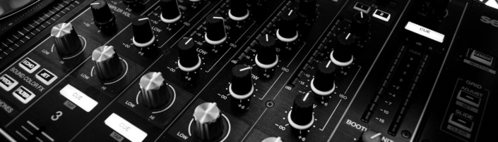 A music mixing deck